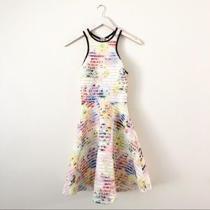 Guess Fifi Floral Shadow Stripe Dress